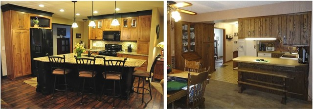 Before & After Photo's kitchen