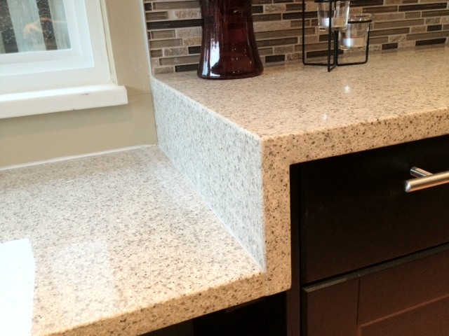 Beige Speckled Quartz Contemporary Kitchen