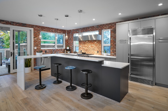 Bell Renovation Industrial Kitchen Edmonton By Alair Homes Edmonton