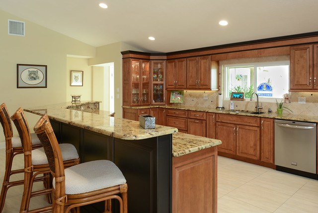 Belleair Beach Open Floor Plan Kitchen - Contemporary - Kitchen ...