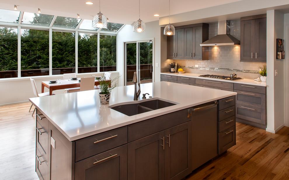 Bellevue Grey Kitchen - Transitional - Kitchen - Seattle ...