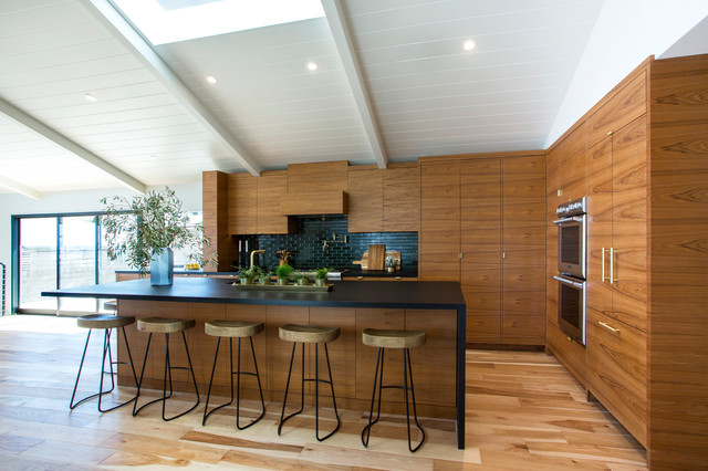 Modern Teak Kitchen Cabinets Kitchen of the Week: Modern Teak Cabinetry Nods to Danish Design