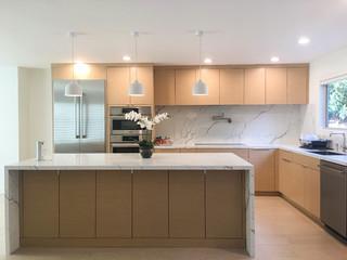 Belmont Modern Rif Oak Kitchen Minimalistisch Kuche San Francisco Von Kitchen Inspiration Inc