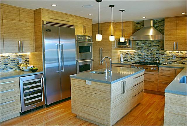 Belmont Strand Bamboo contemporary-kitchen