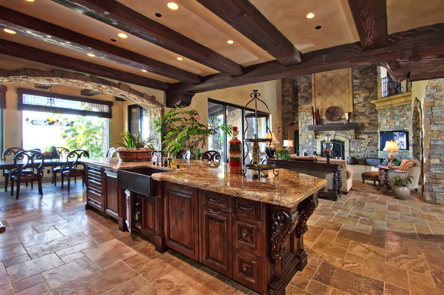 Belvedere Estates mediterranean kitchen