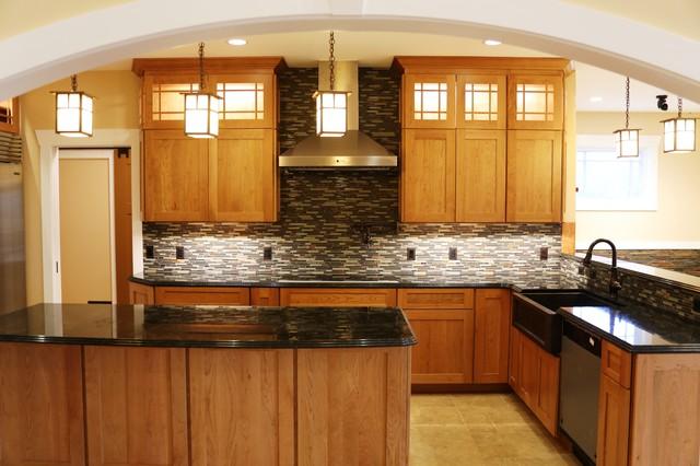 Bentonville custom home craftsman kitchen dc metro for Accents salon bentonville ar