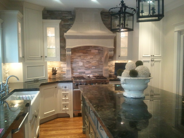Bentwood Cast Stone Kitchen Range Hood Traditional