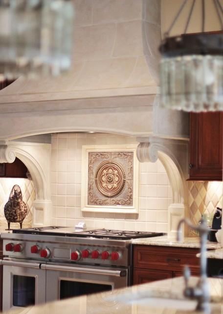 Bentwood Cast Stone Range Hood traditional-kitchen