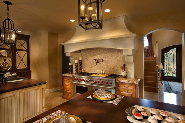 Bentwood Cast Stone Range Hood with Tuscany Corbel - Traditional - Kitchen - dallas - by Old ...