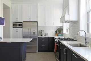 white kitchens with dark lowers 4