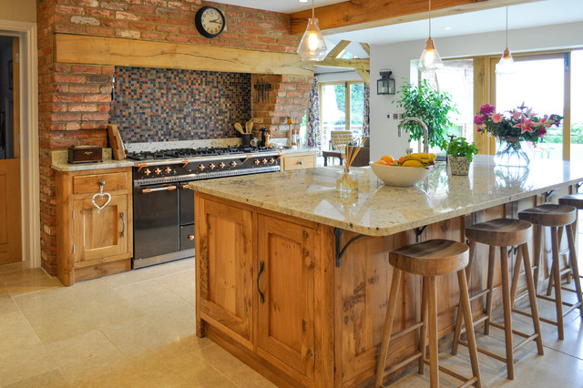 berkshire pippy oak kitchen and pantry - rustic - kitchen