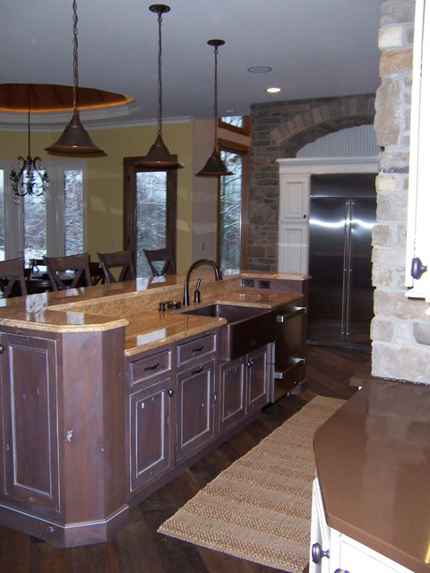 Knotty Alder Stained Kitchen Cabinets Products on Houzz