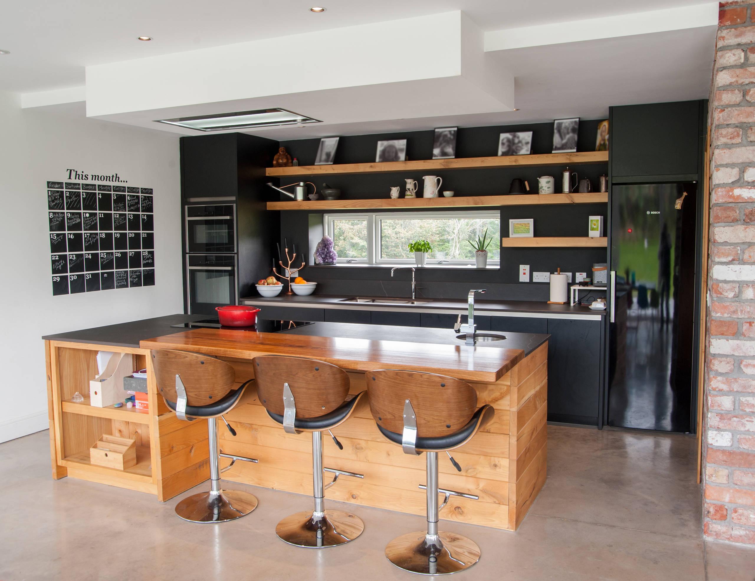 Bespoke Black Kitchen with Island