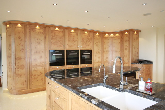 Bespoke Burr Oak Kitchen With Walk In Pantry And Large Island Contemporary Kitchen Other