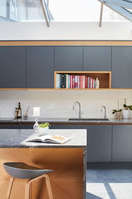 Bespoke Kitchen In London Townhouse Contemporary Kitchen Berkshire By Extreme Design