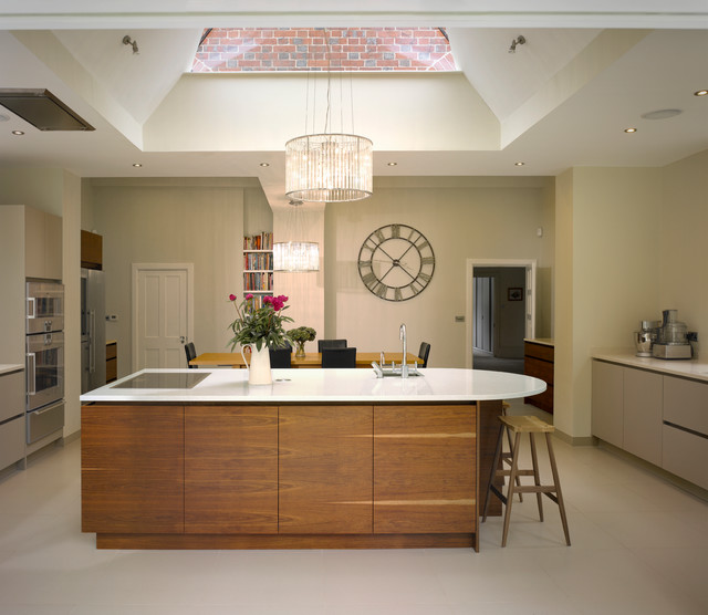 Bespoke kitchen in new extension contemporary kitchen london by roundhouse Bespoke contemporary kitchen design