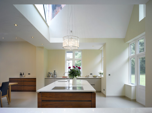 Bespoke kitchen in new extension contemporary kitchen london by roundhouse Kitchen design courses in london