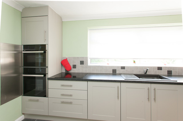 Bespoke Mint Green and Light Grey Painted Kitchen - Contemporary - Kitchen - east midlands - by ...