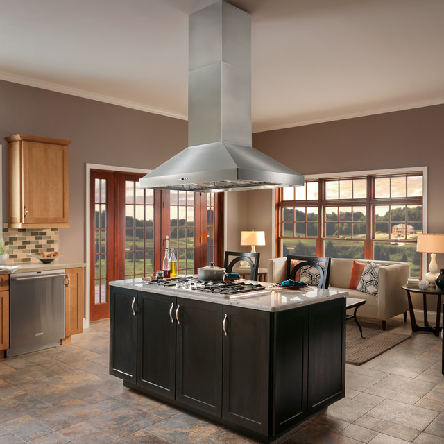 BEST Range Hoods Colonne Island Traditional Kitchen other metro by B