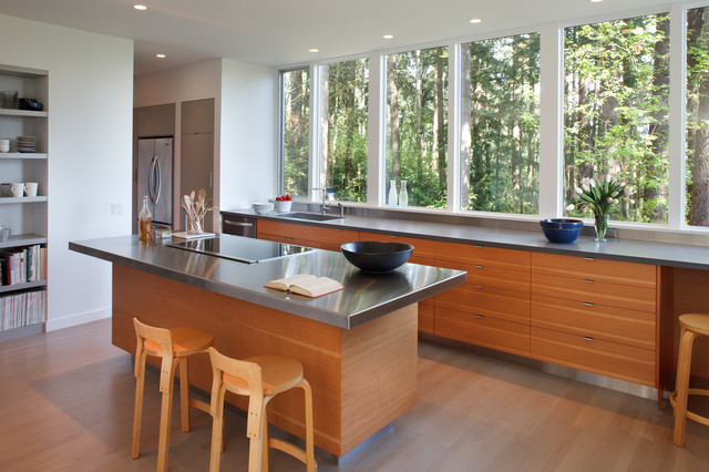 Best Rd - Kitchen Island and Window Wall - Contemporary - Kitchen - Other - by Studio Sarah ...