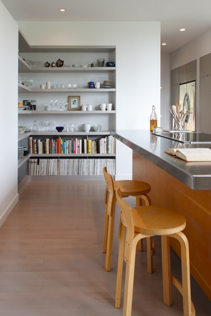 Best Rd - Kitchen Island with Shelving Beyond contemporary-kitchen