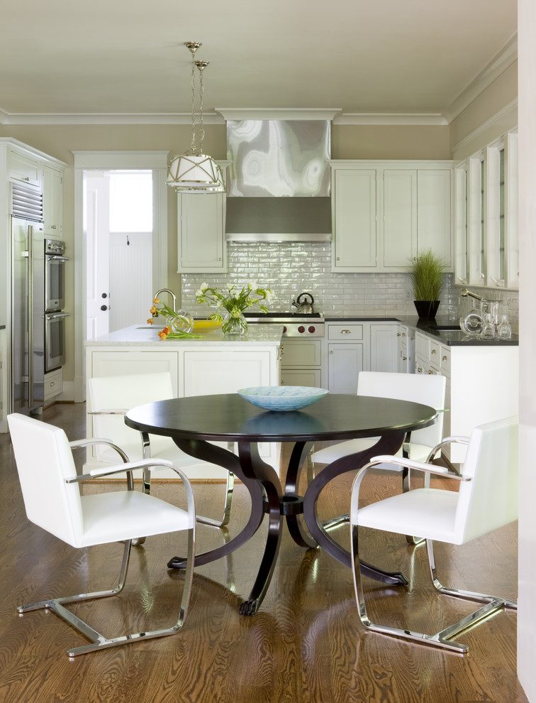 Kitchen - contemporary kitchen idea in DC Metro with stainless steel appliances