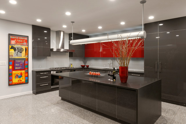 Bethesda maryland contemporary kitchen design with a punch of color contemporary kitchen - Kitchen designers in maryland ...