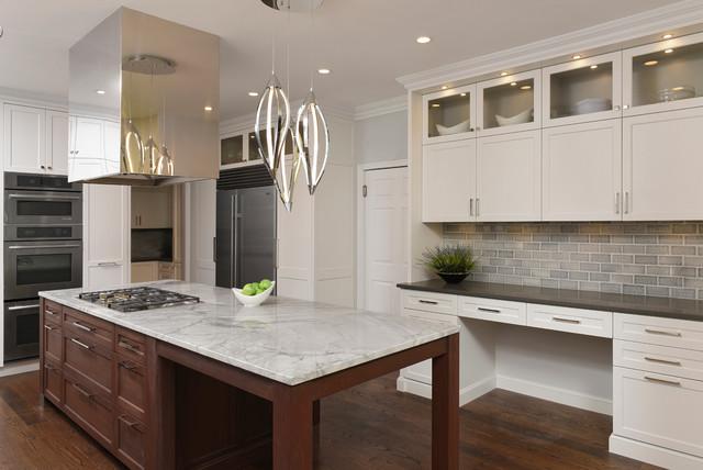 Bethesda Maryland Transitional Kitchen Design With Edgy Modern Twist Tran