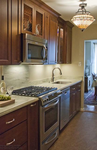 Bethesda, MD - Galley Kitchen Renovation traditional-kitchen