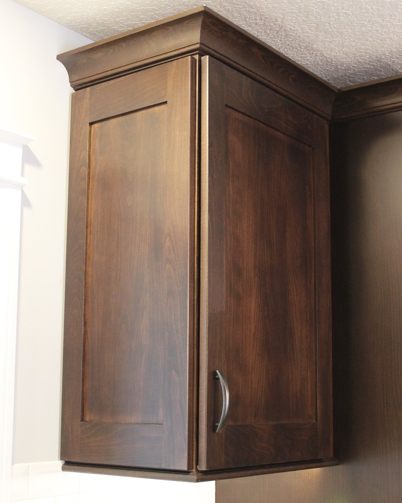 Bettendorf, IA- Kitchen in Dark Mocha Cabinetry With ...