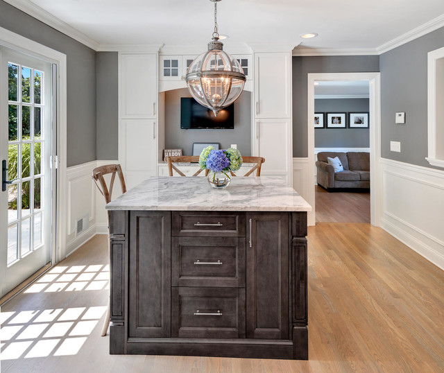 Better than Restoration Hardware Gray and White Kitchen - Transitional ...
