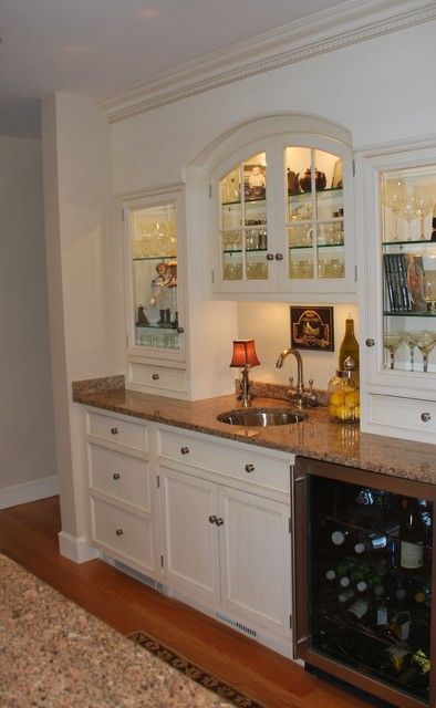 Beverage Centers - Traditional - Kitchen - boston - by Heartwood Kitchens