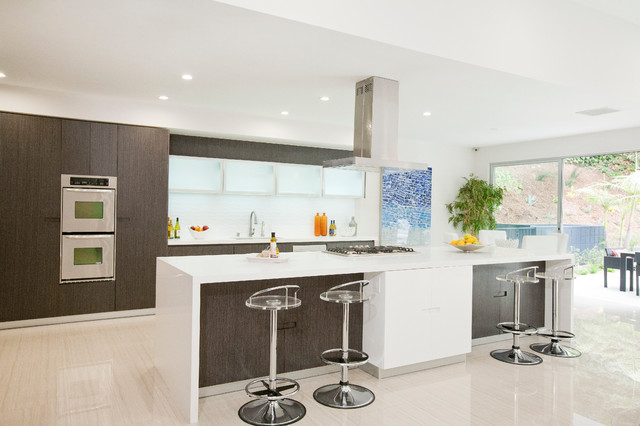 Beverly Hills Glamour Contemporary Kitchen Los Angeles Fresh Paint Art Advisors