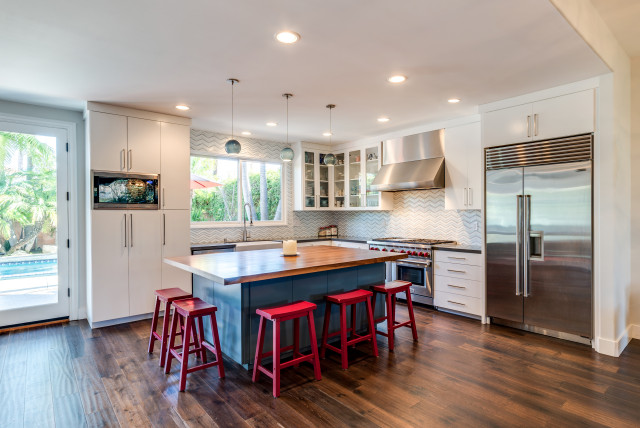 Beverly Hills Contemporary Kitchen Los Angeles By Kcs Design