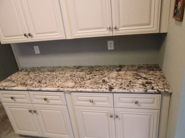 Antico Granite Countertop Color Examples - Traditional - Kitchen ...