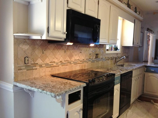 Bianco Antico Granite Countertop Color Examples - Traditional - Kitchen - charlotte - by ...