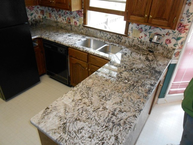 Attractive Bianco Antico Granite Countertop Color Examples Traditional Kitchen