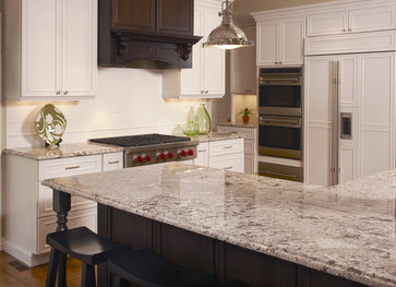 Our Kitchen, With Bianco Antico Granite. What A Change! | For The Home |  Pinterest | Granite, White Cabinets And Kitchens