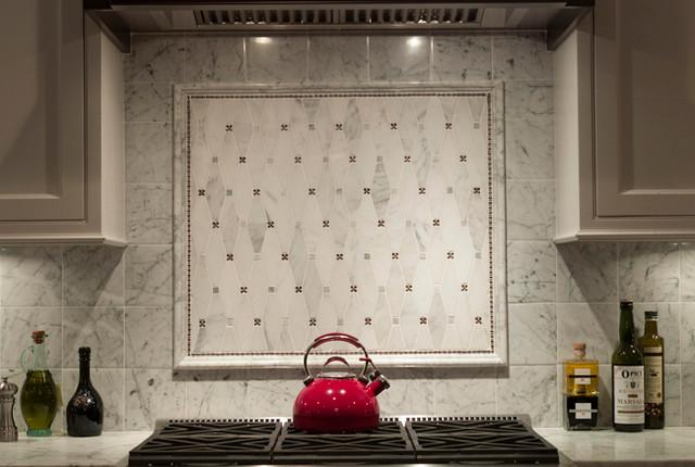bianco carrara backsplash traditional kitchen san francisco by