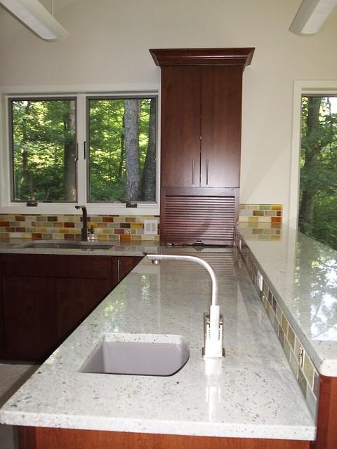 Bianco romano granite kitchen for Kitchen design quincy ma