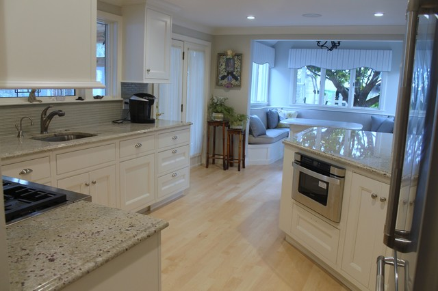 Bianco Romano Granite Ogee Edge Traditional Kitchen