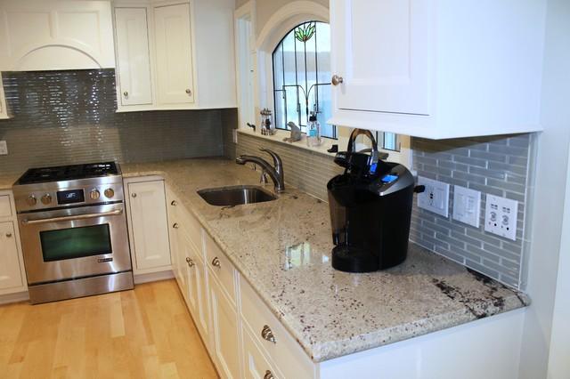 Bianco Romano Granite Ogee Edge Traditional Kitchen