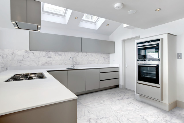 New Bianco Venatino Marble Tile - Modern - Kitchen - Toronto - by  FP25