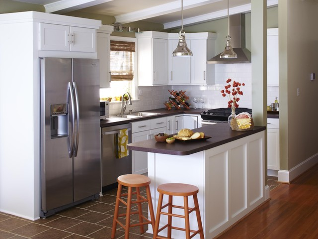 Small Traditional Kitchen big kitchen style on a small budget - traditional - kitchen