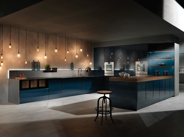 concrete floor kitchen binova quot vogue quot collection contemporary kitchen los 2421