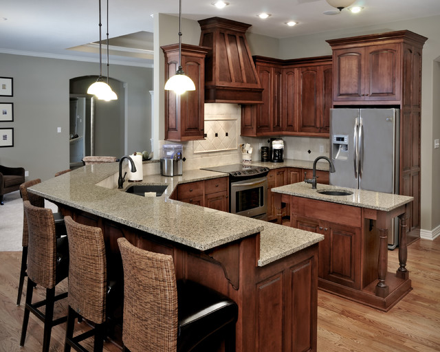 Dark Stain Colors For Kitchen Cabinets ~ Birch Cabinetry with stained