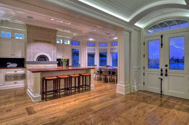 Birch Wide Plank Floor - Newport Beach, California traditional-kitchen