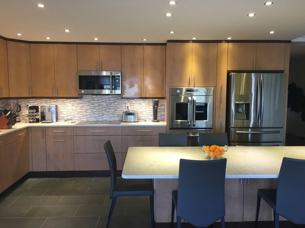 Birdseye Maple Transitional Kitchen - Transitional ...