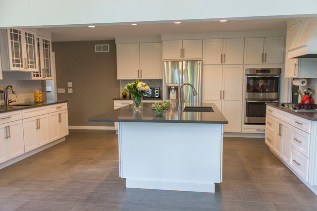 ksi designer lindsey collins contemporary kitchen for the windowless remove cabinet doors over the sink
