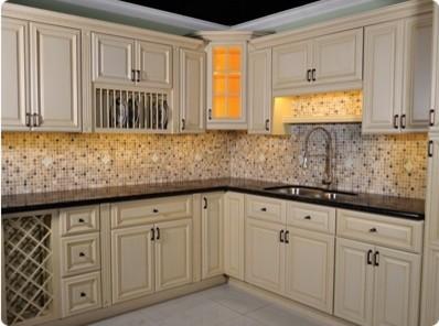 Bisque Kitchen Base Cabinets
